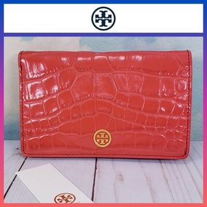 Tory Burch Parker Embossed Medium Slim Wallet NWT